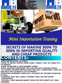 Basic Mini Importation Training
